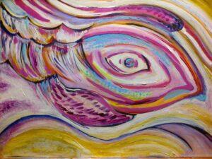 "Phoenix rising, 21""x27"",framed, $200"