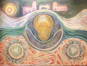 """Birth of Atlantis, 15""""x22"""", unframed, $330"""